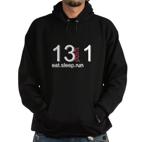 13point1 Pullover Chest Sports Hoodie dark by CafePress