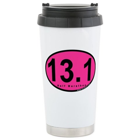 13.1 Half Marathon  Sports Ceramic Travel Mug by CafePress