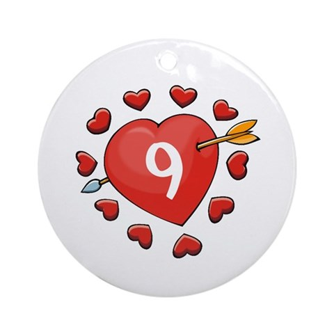 9th Valentine Ornament Round Wedding Round Ornament by CafePress