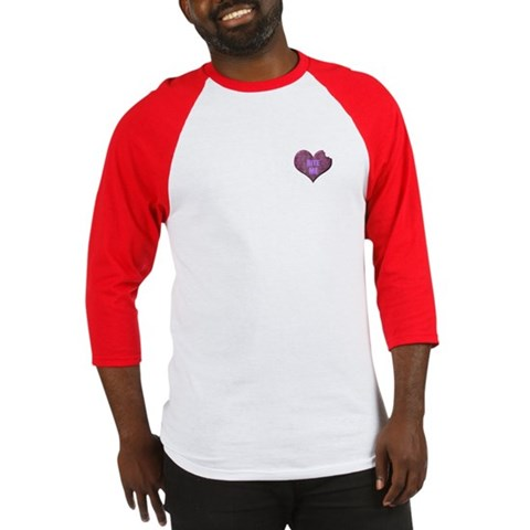 Bite Me Heart Design Humor Baseball Jersey by CafePress