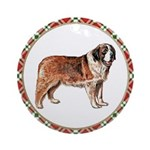 Saint Bernard Christmas Ornament