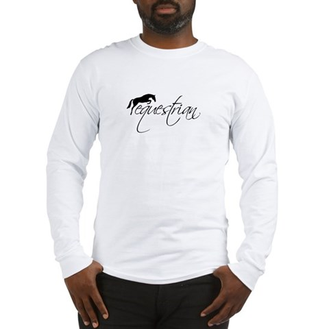 equestrian w/jumping horse Long Sleeve T-Shirt