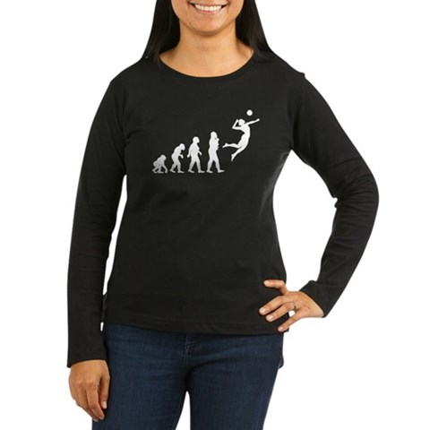 Product Image of Volleyball Women's Long Sleeve Dark T-Shirt