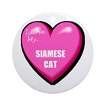 Siamese Cat Lover Ornament