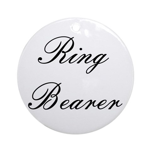Ring Bearer Embassy Formal Ornament Round Ring bearer Round Ornament by CafePress