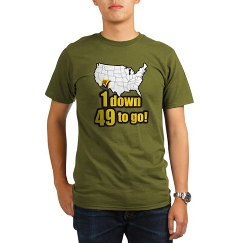 1 down 49 to go  Political Organic Men's T-Shirt dark by CafePress