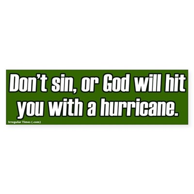 Don't Sin God Hits With Hurricanes