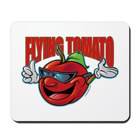 Flying Tomato! Mousepad