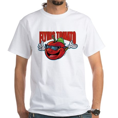 Flying Tomato! White T-Shirt