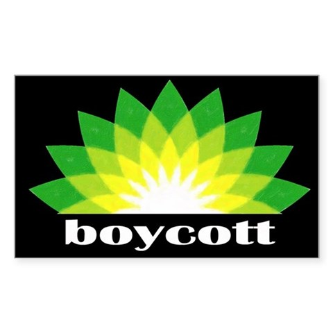 Boycott BP Bumper BP Gulf Oil Spill T-shirts and B New orleans Rectangle Sticker 10 pk by CafePress