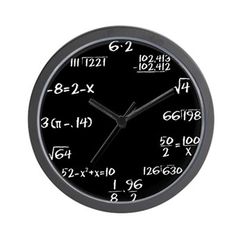 Black Chalkboard Math Wall Clock | Gifts For A Geek | Geek T-Shirts