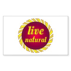 Live Natural Sunflower Sticker (Rectangular)
