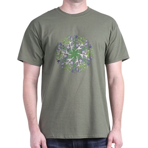 Hummingbird Spin -  Art Dark T-Shirt by CafePress