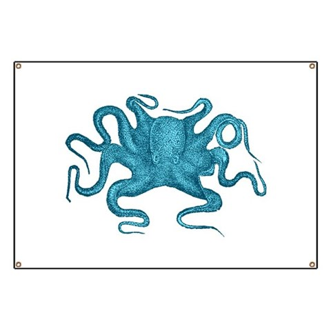 Blue Octopus  Science Banner by CafePress