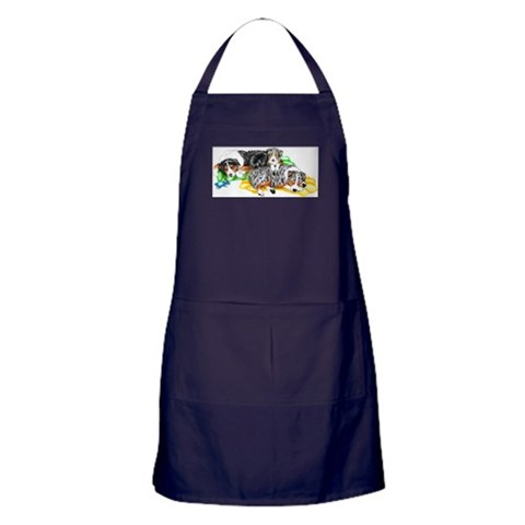 Aussie Family Nap  Pets Apron dark by CafePress