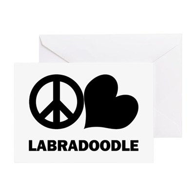 Peace Love Labradoodle Greeting Card