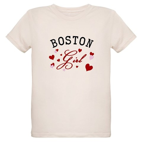 Boston Girl  Places Organic Kids T-Shirt by CafePress