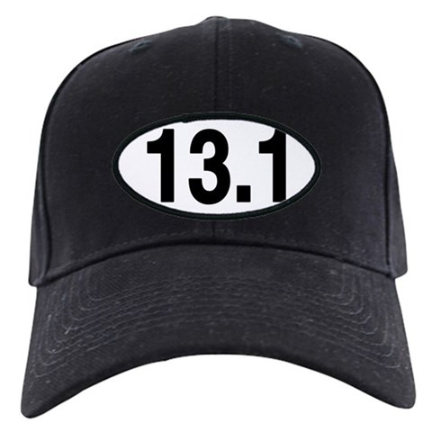13.1 Euro Oval  Sports Black Cap by CafePress