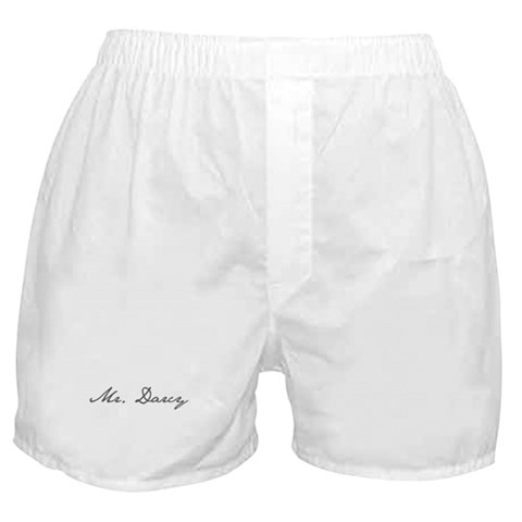 - Mr. Darcy Literature Boxer Shorts by CafePress