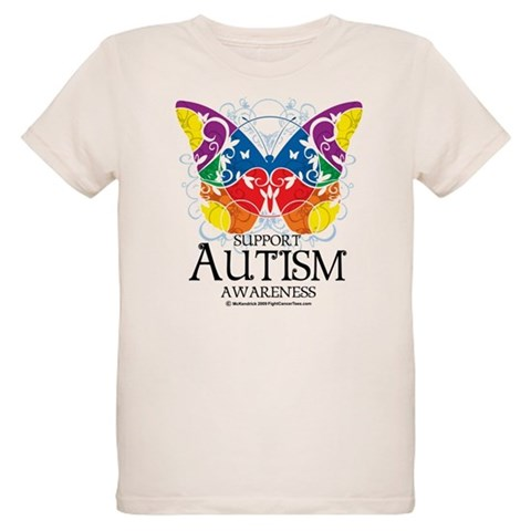 Autism Butterfly  Health Organic Kids T-Shirt by CafePress