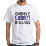 Cure Alzheimers White T-Shirt