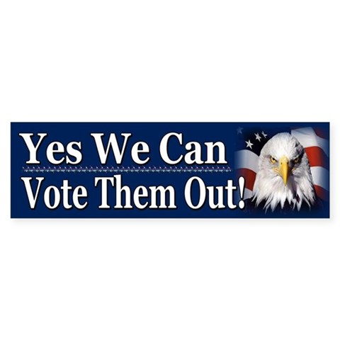 Yes We Can Tea party Bumper Sticker 10 pk by CafePress