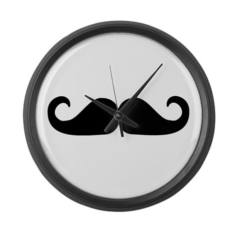 Beard - Mustache  Humor Large Wall Clock by CafePress