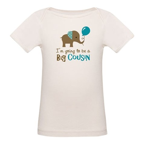 Big Cousin to be - Elephant  Family Organic Baby T-Shirt by CafePress
