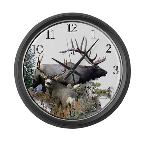 Big Game Hunter  Sports Large Wall Clock by CafePress