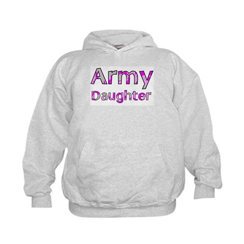 Army Daughter Pink Camo  Military Kids Hoodie by CafePress