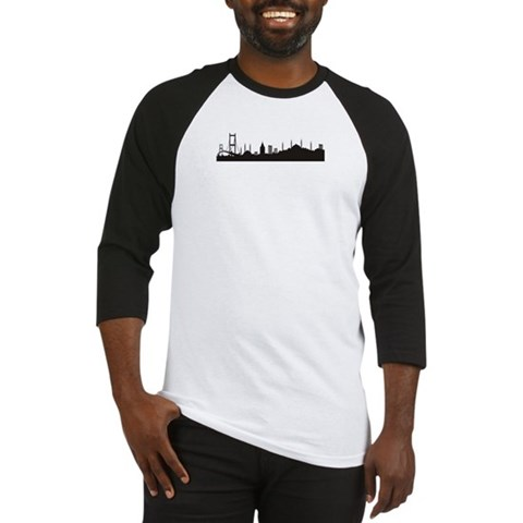 - Istanbul silhouette Countries / regions / cities Baseball Jersey by CafePress