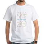 40 New 20 White T-Shirt