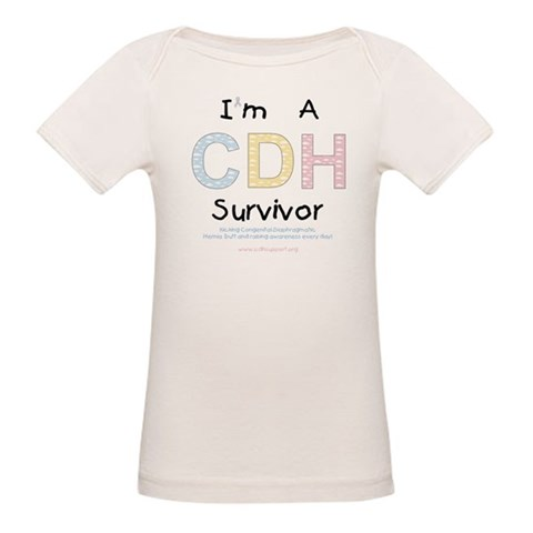 I'm A CDH Survivor  Baby / kids / family Organic Baby T-Shirt by CafePress