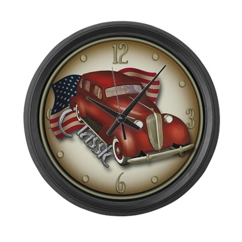 American Classic Car  Vintage Large Wall Clock by CafePress