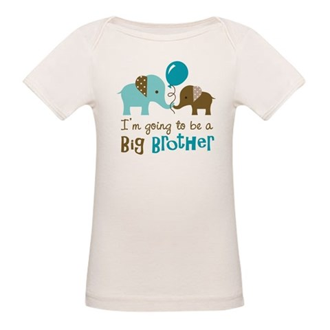 Big Brother to be - Elephant  Family Organic Baby T-Shirt by CafePress