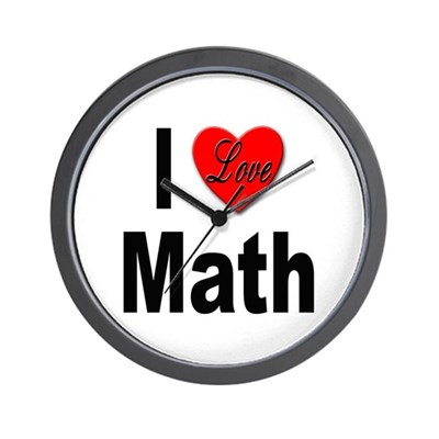I Love Math Wall Clock Gift Product