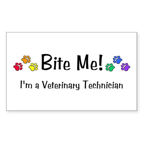 - Bite Me design Dog Rectangle Sticker by CafePress