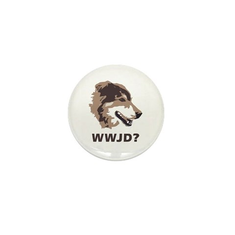 - WWJD? Dog Mini Button 10 pack by CafePress