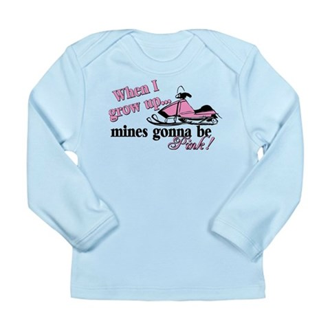When I Grow Up  Racing Long Sleeve Infant T-Shirt by CafePress