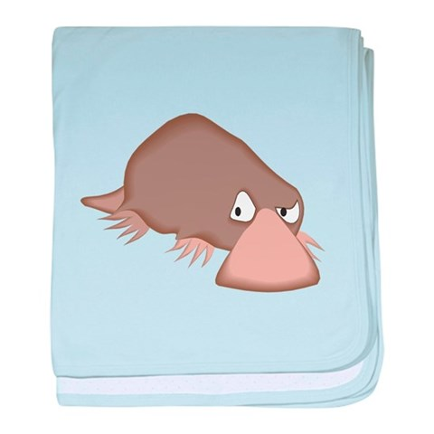 Crabby Little Platypus Infant Blanket Funny baby blanket by CafePress