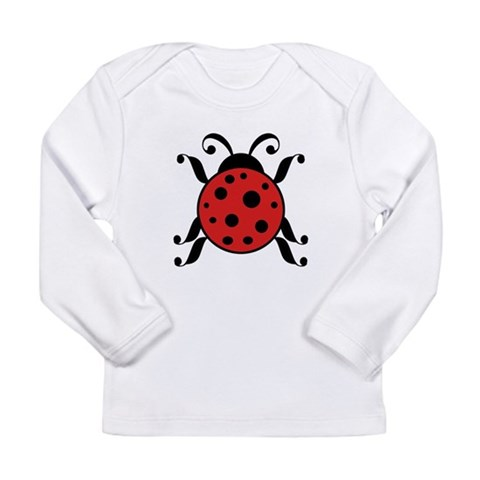 Adorable Ladybug  Ladybug Long Sleeve Infant T-Shirt by CafePress