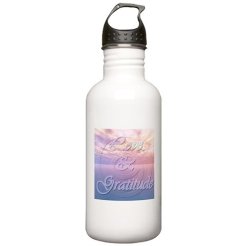 - Love and Gratitude  Health Stainless Water Bottle 1.0L by CafePress