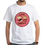 Asian/Caucasian Girl Love Mak White T-Shirt