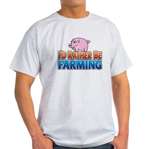 Farmville Cartoon pig  Funny Light T-Shirt by CafePress