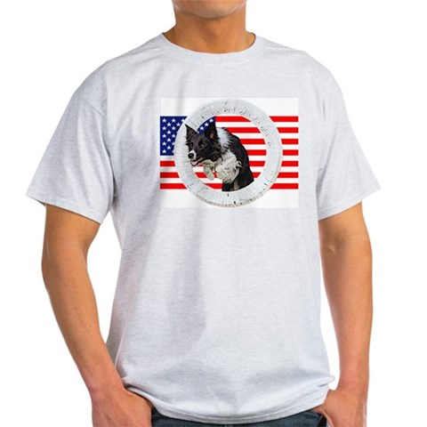 USA Border Collie Agility Design Kids Light T-Shirt by CafePress