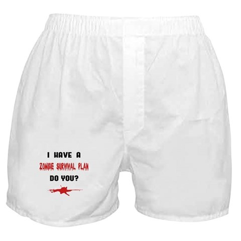 Zombie Plan  Funny Boxer Shorts by CafePress