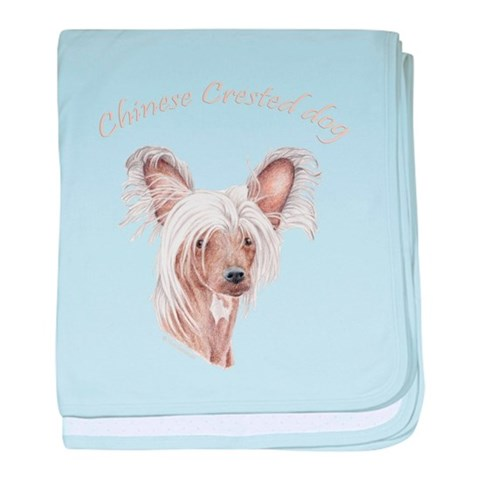 Chinese crested dog Infant Blanket Pets baby blanket by CafePress
