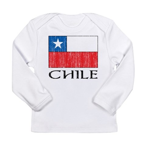 Chile Flag  Flag Long Sleeve Infant T-Shirt by CafePress