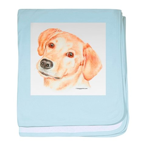 Yellow Labrador Retriever Infant Blanket Pets baby blanket by CafePress
