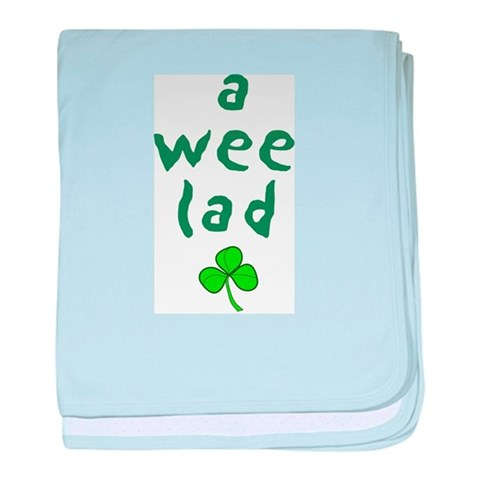 A Wee Lad Infant Blanket Irish baby blanket by CafePress